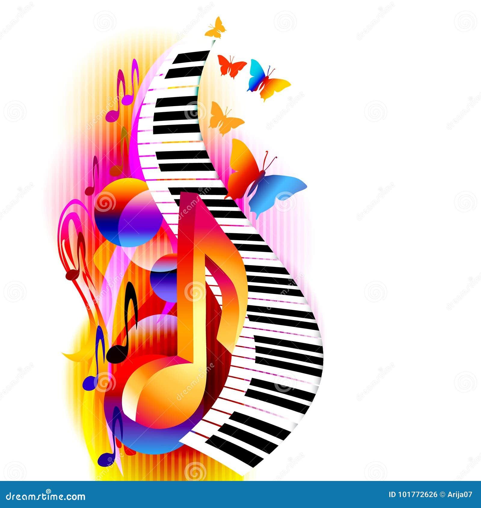 Notes De Musique Avec Le Clavier De Piano Illustration de