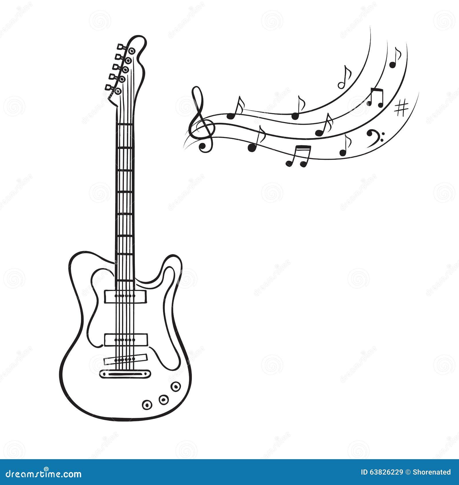 guitare electrique note de musique