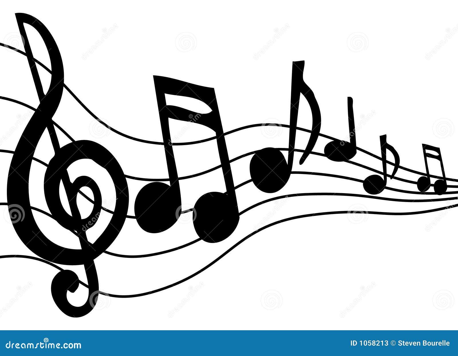 Notes de musique illustration de vecteur illustration du - Note musique dessin ...