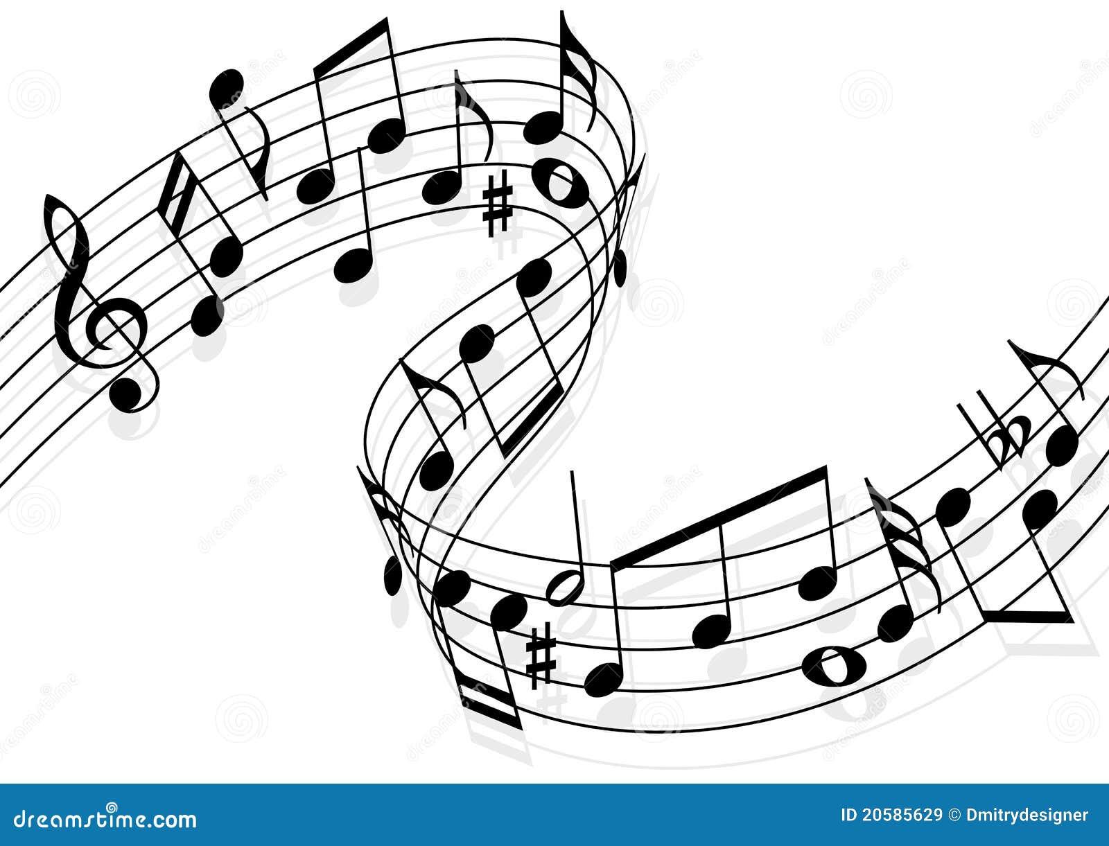 Notes De Musique Illustration De Vecteur Illustration Du Mélodie