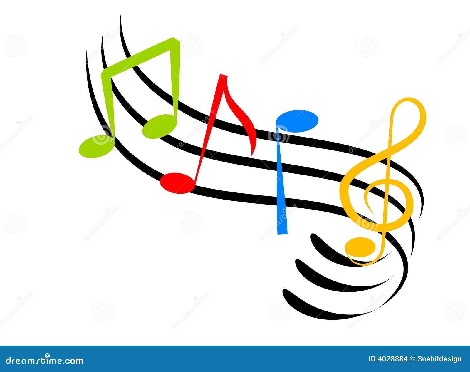 Super Notes De Musique Images stock - Image: 4028884 WF05