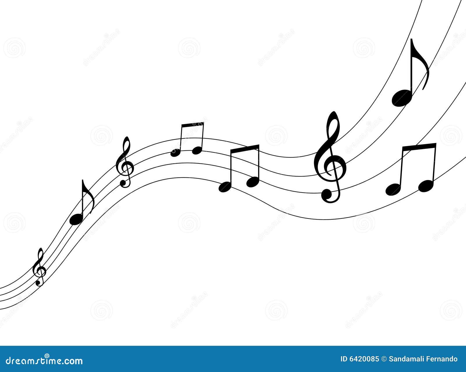 Notes De Musique Illustration De Vecteur Illustration Du Foncé