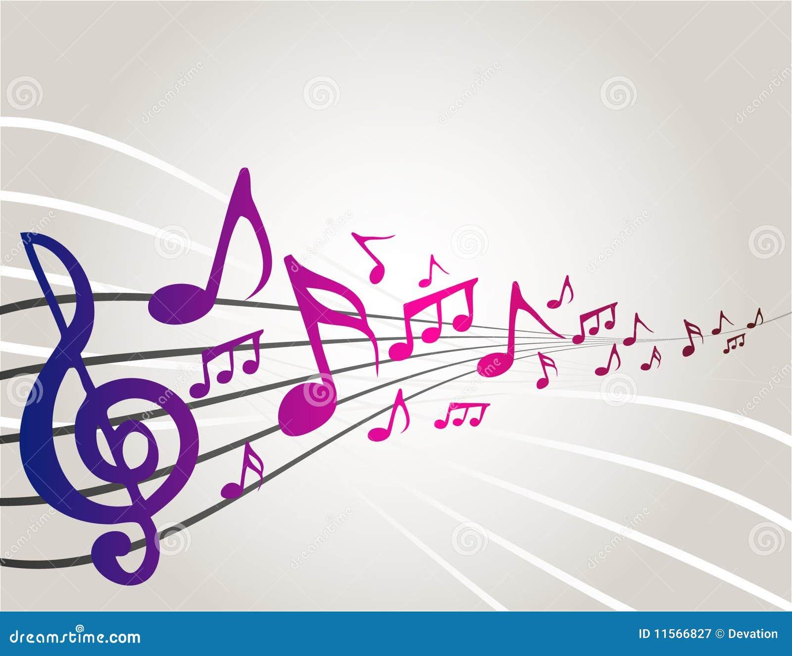 Notes de musique de danse illustration de vecteur for Musique barre danse classique gratuite