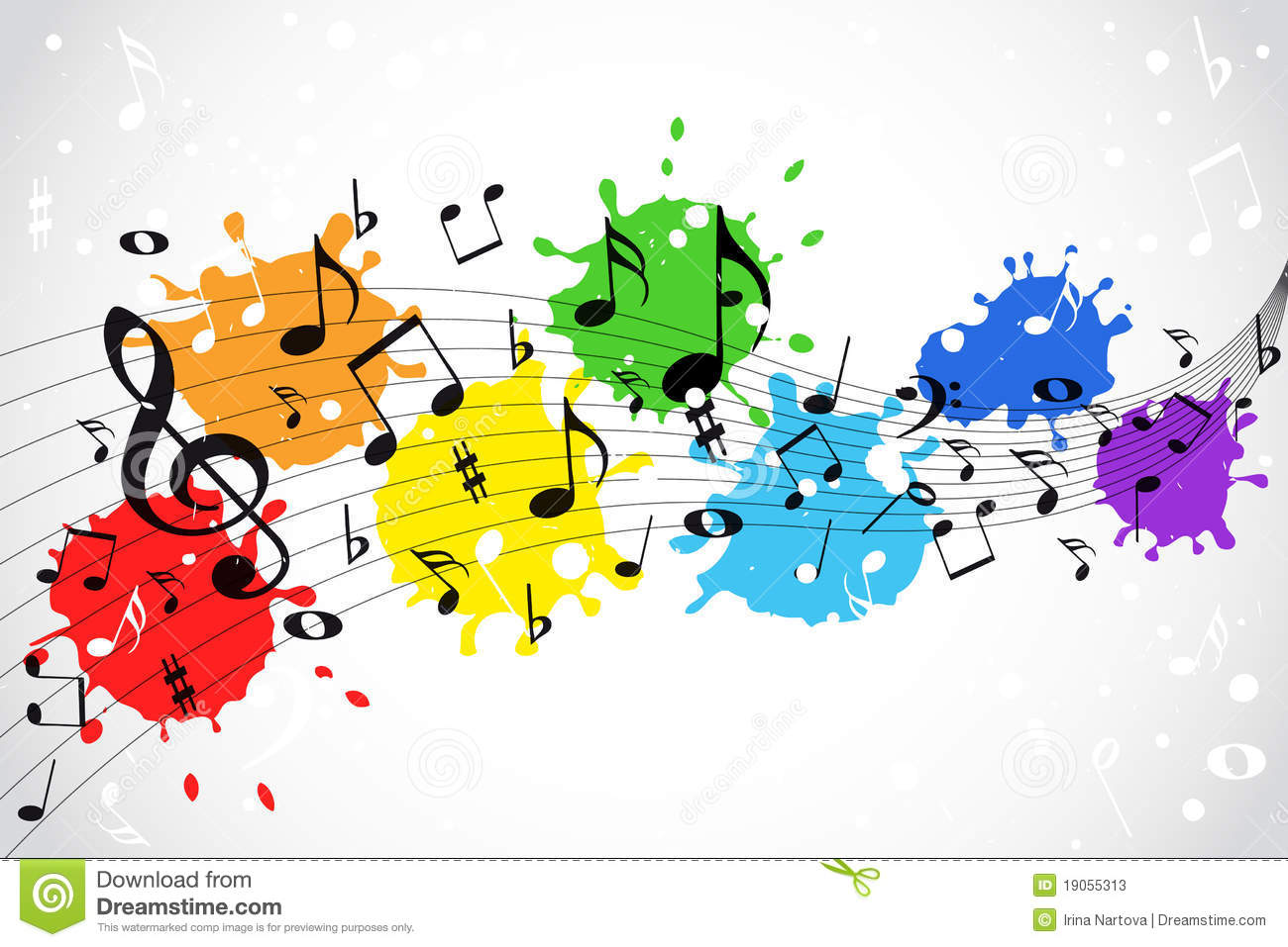 Häufig Notes De Musique - Fond De Couleur Photos stock - Image: 19055313 DA62