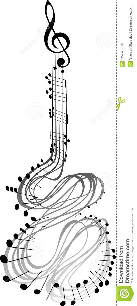 Notes de musique de guitare