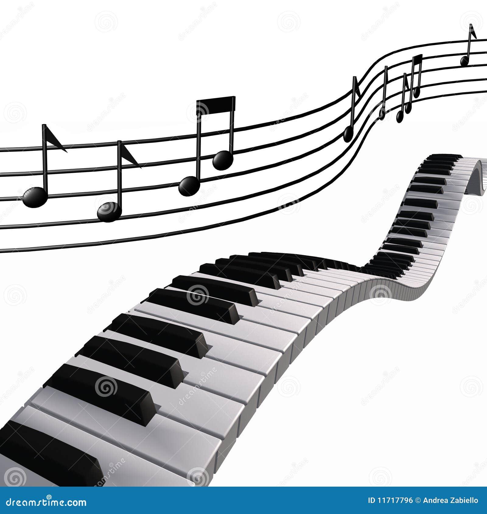 Gut bekannt Notes De Piano De Musique Dans Le Ciel Image libre de droits  LE98