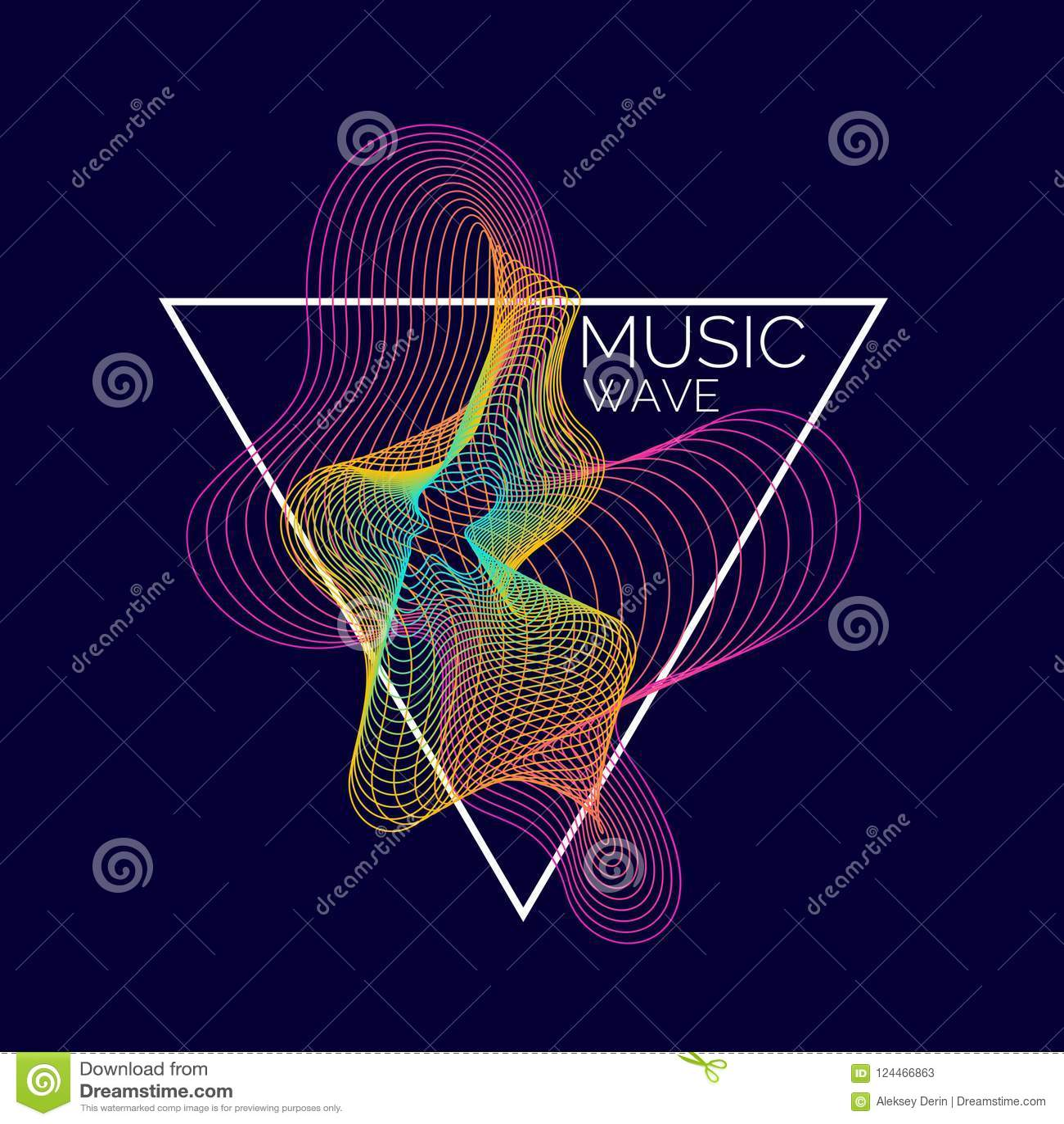 Notes de piano (jpg+eps) Dirigez le fond abstrait avec les vagues dynamiques colorées