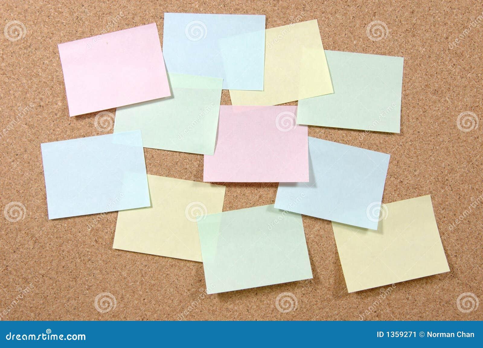 Notes de post-it colorées