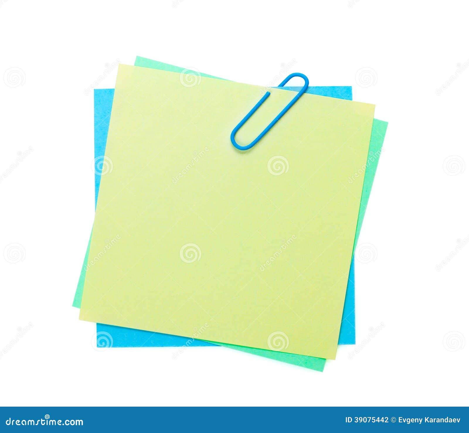 Notes De Post It Color 233 Es Avec L Agrafe Photo Stock
