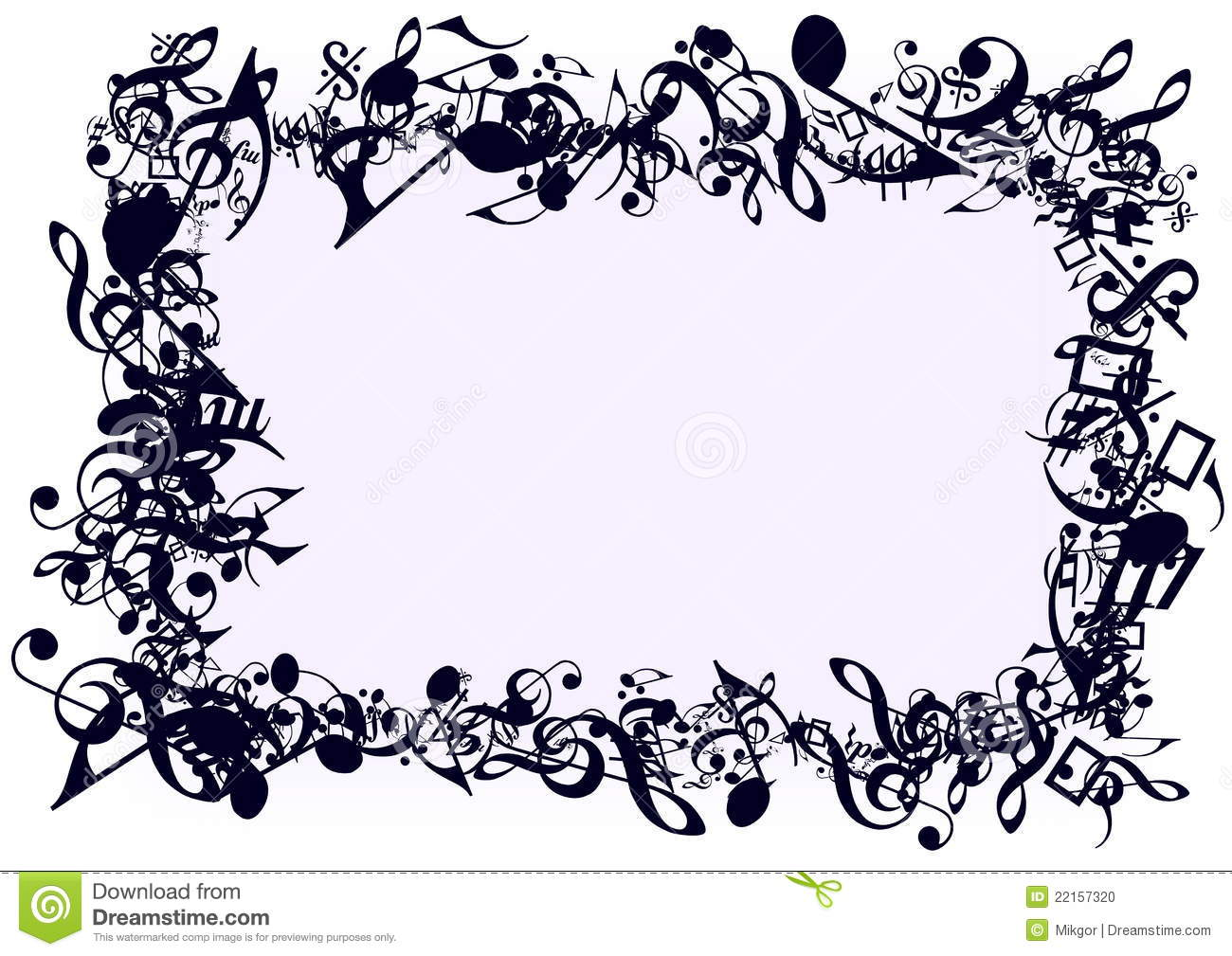 notes frame stock photo image 22157320 music - Music Note Picture Frame