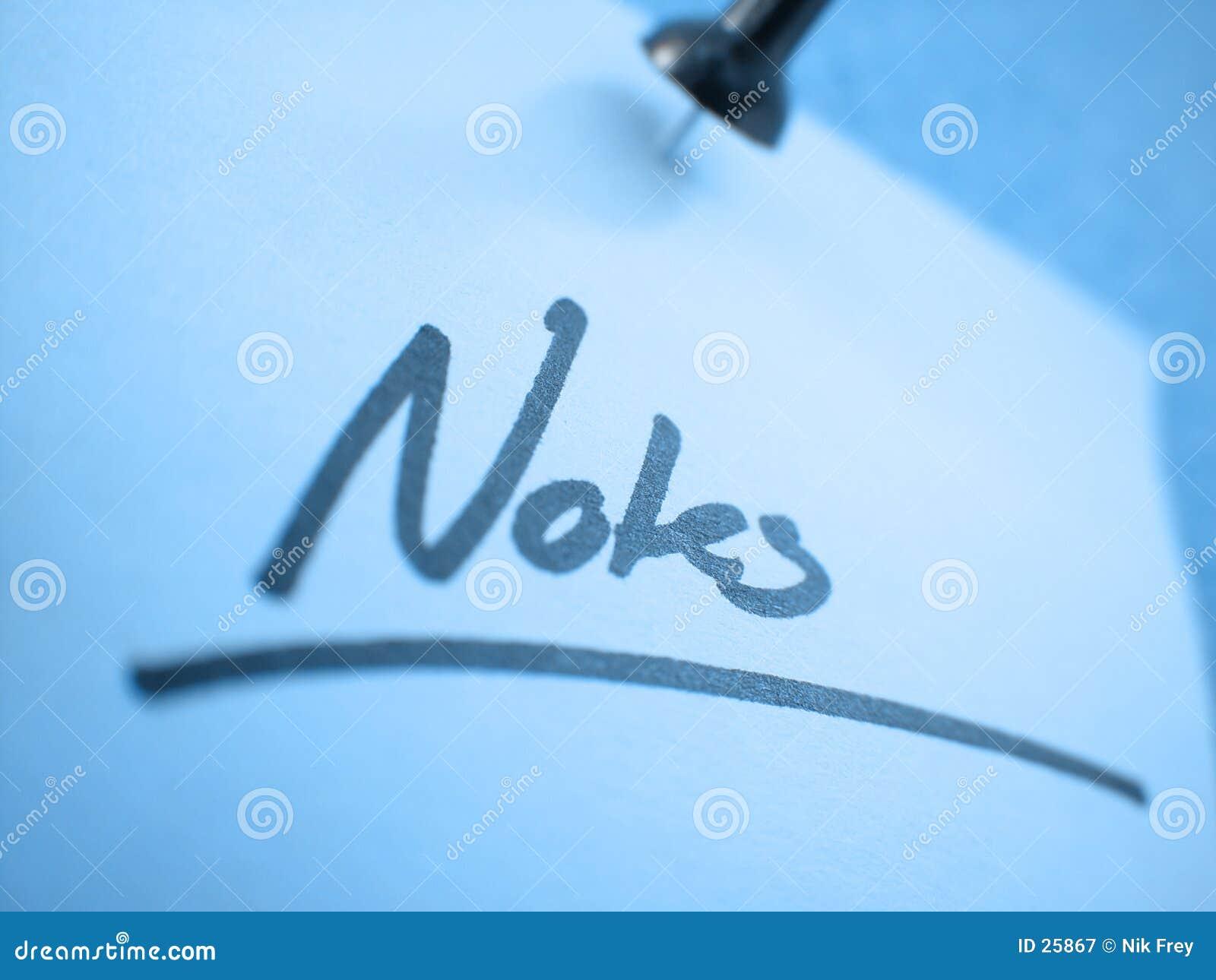 Notes? I