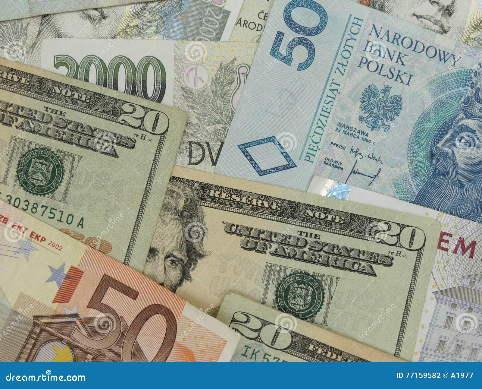 Notes mélangées de devise