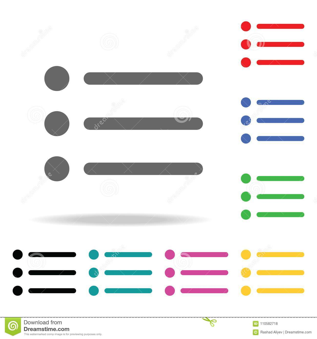 Notes Menu Icon  Elements In Multi Colored Icons For Mobile