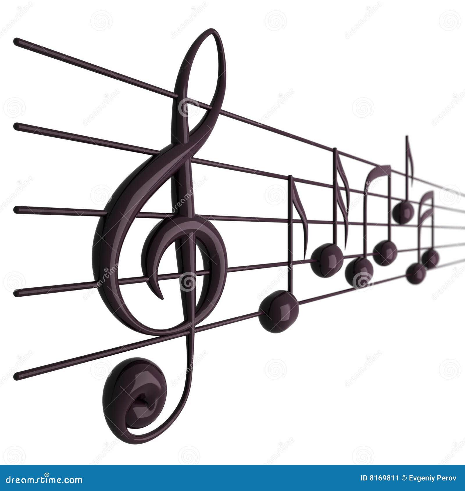 Notes musicales de zone de profondeur