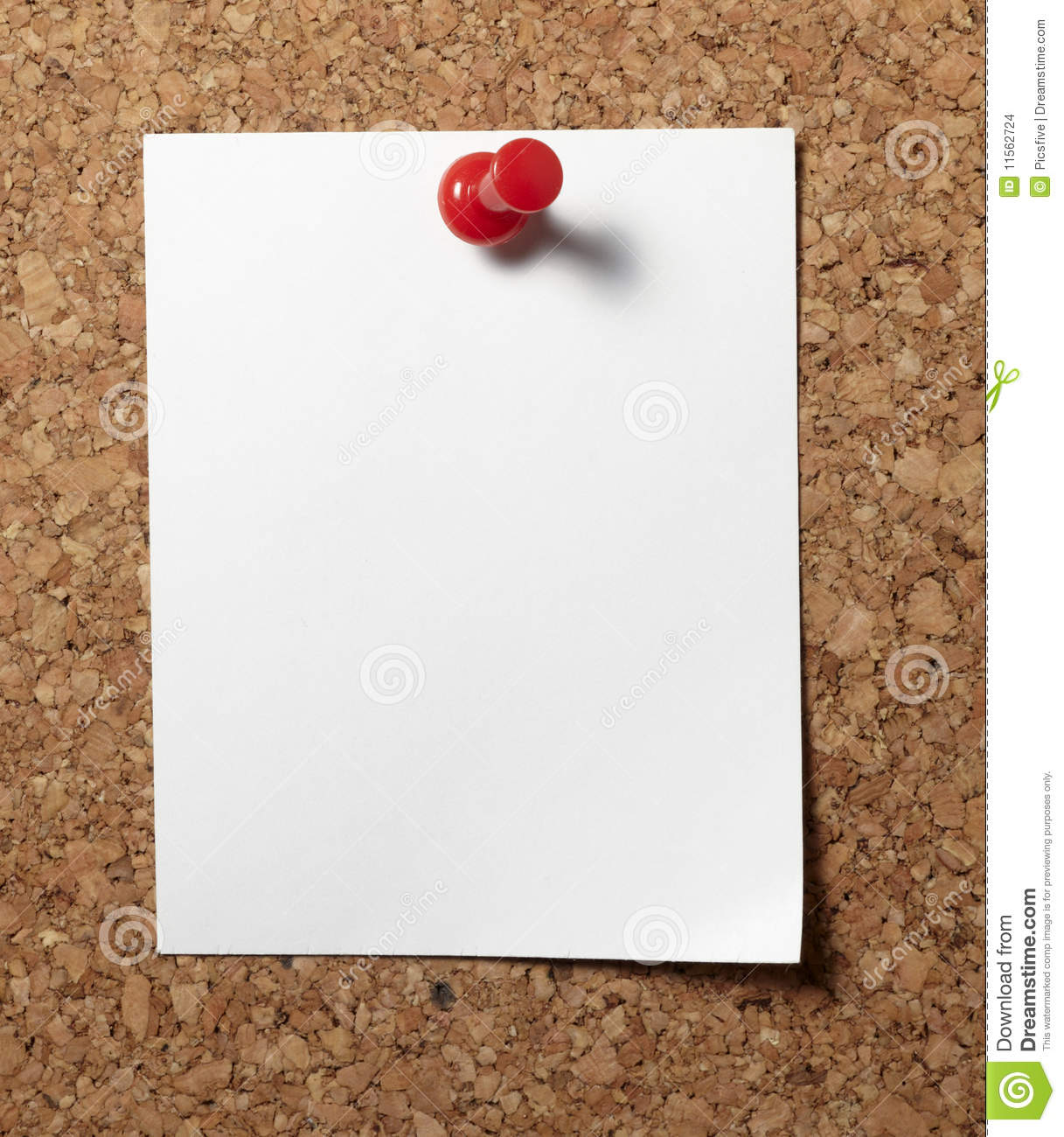 cork board for office bulletin note paper with push pins on cork board notes with push pins on cork board office business stock photo