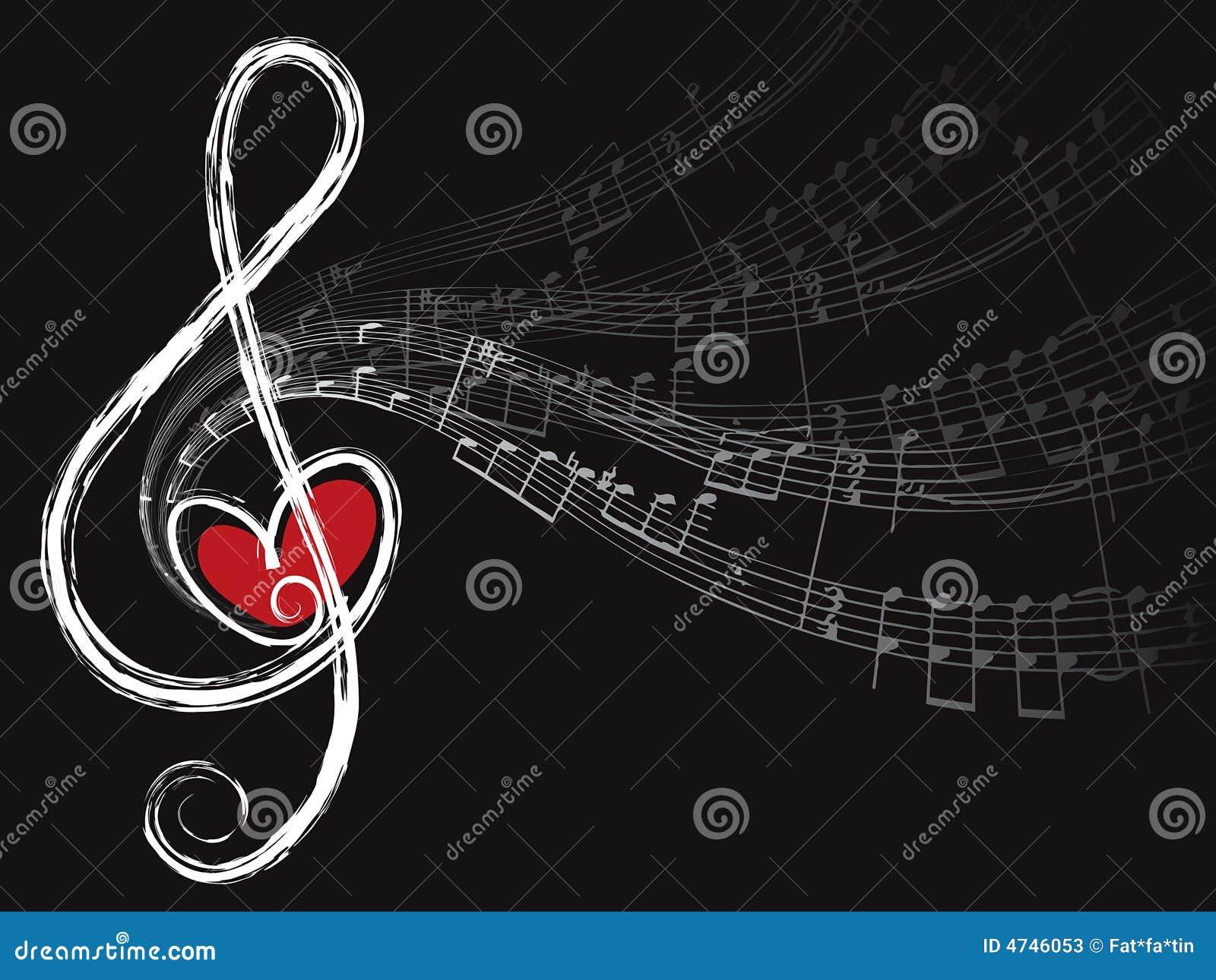Notes triples d amour et de musique