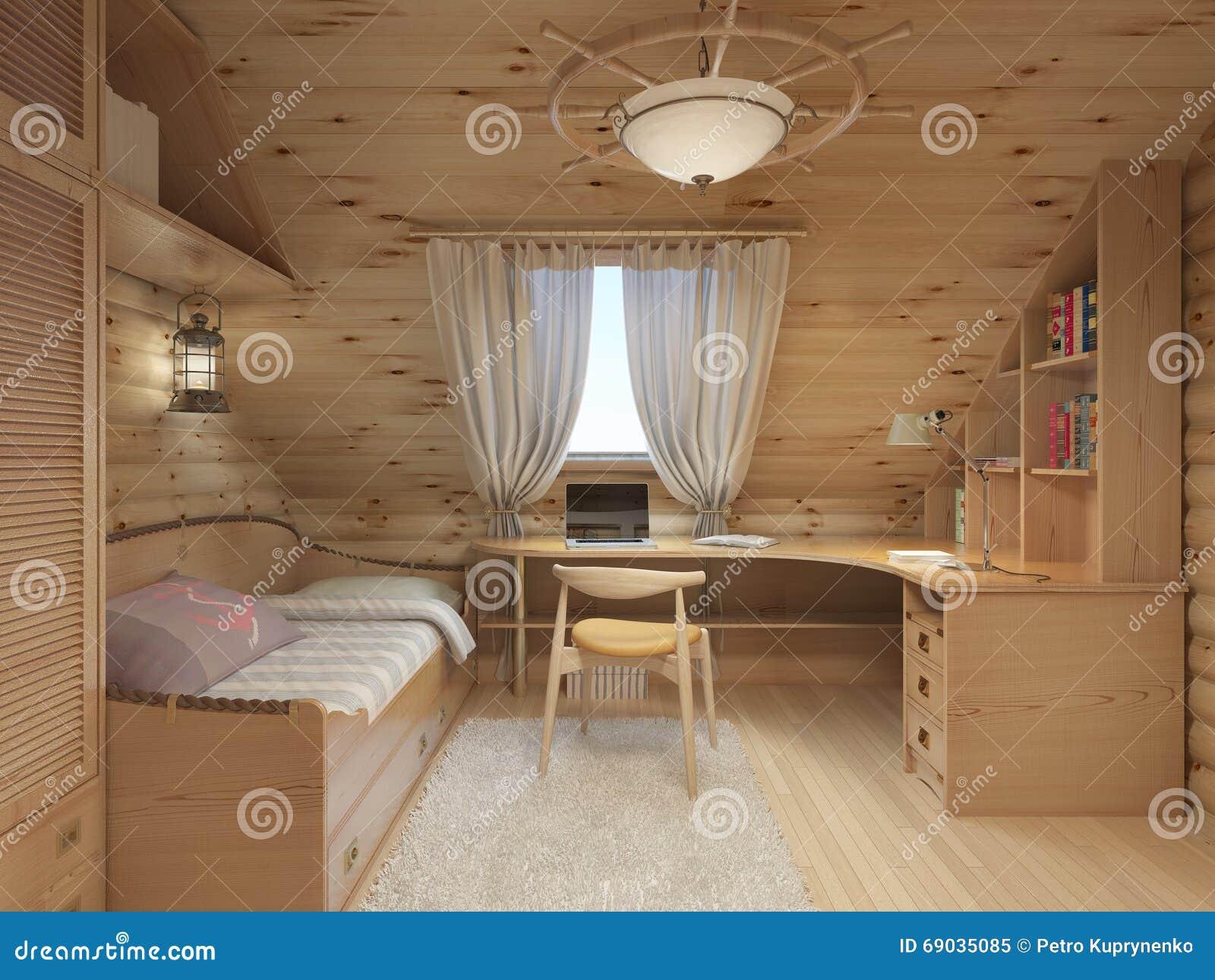 Notez la pièce intérieure pour un adolescent du bois de