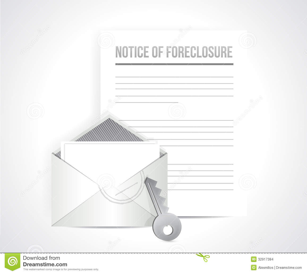notice of foreclosure letter and envelope