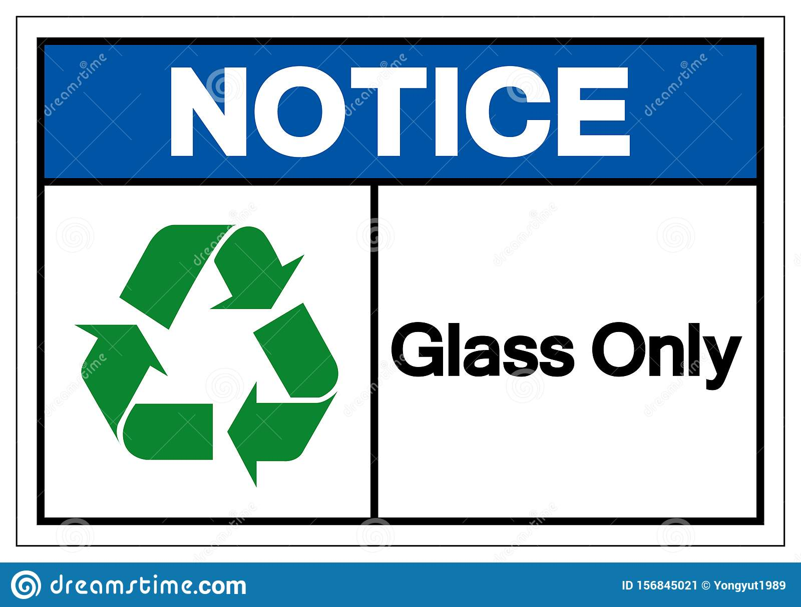 Notice Glass Only Symbol Sign ,Vector Illustration, Isolate On White Background Label .EPS10