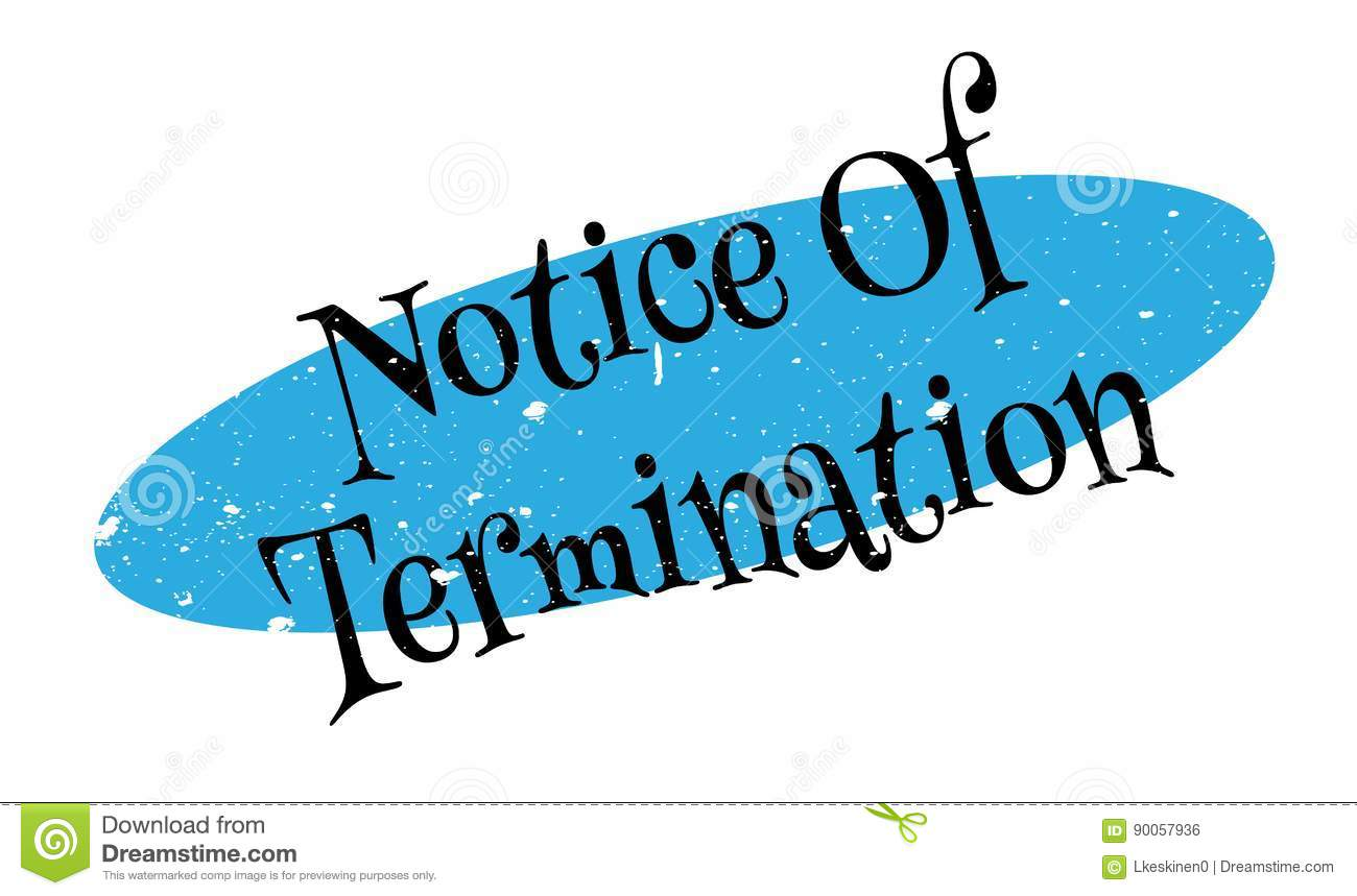 Download Notice Of Termination Rubber Stamp Stock Vector - Illustration of agreement, ceased: 90057936