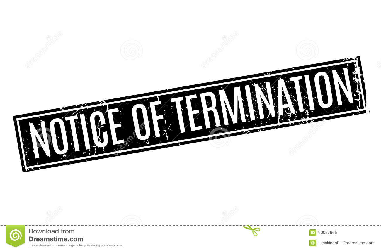 Download Notice Of Termination Rubber Stamp Stock Vector - Illustration of business, agreement: 90057965