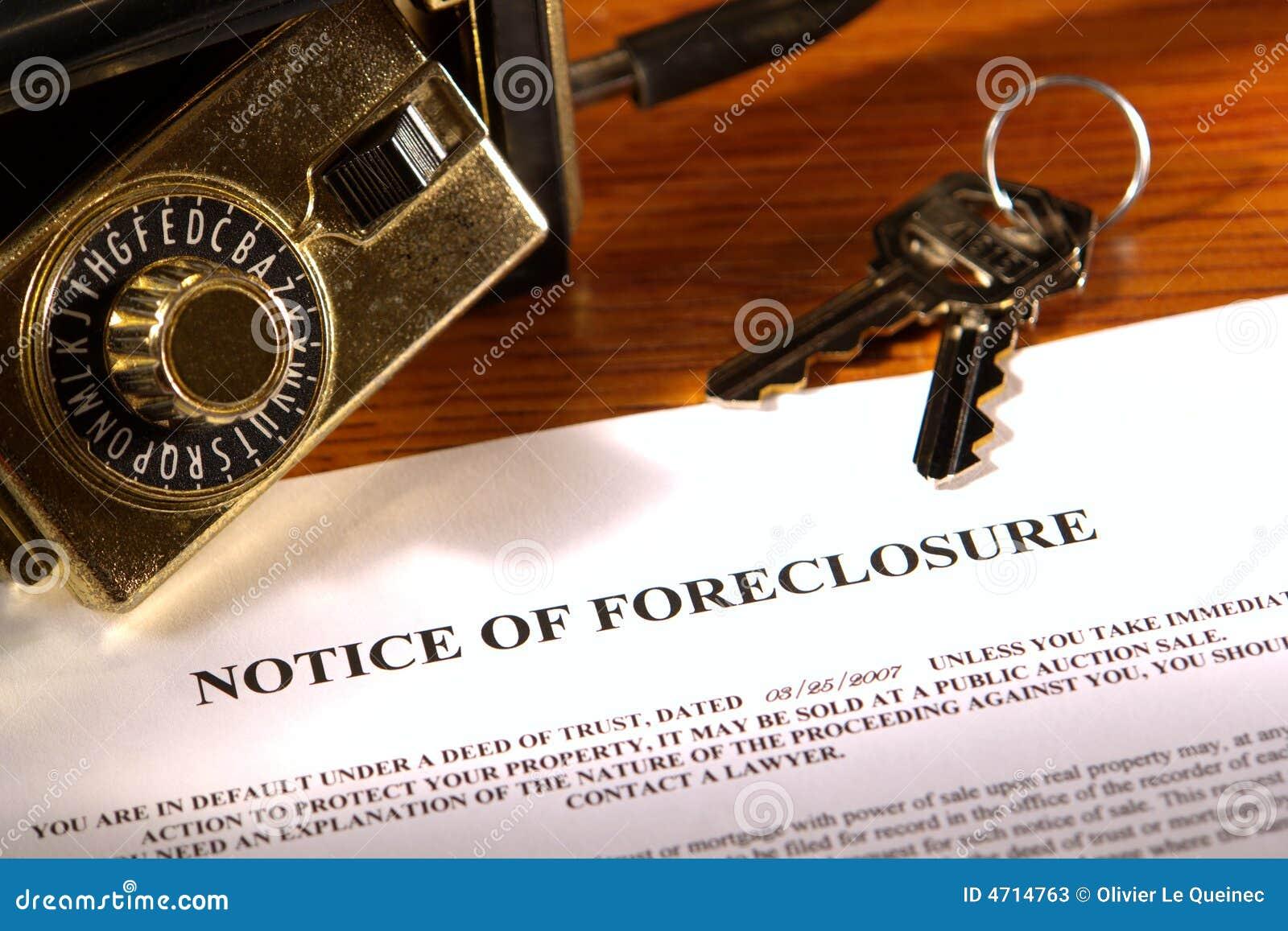 Notification de forclusion et cadre de blocage d immeubles