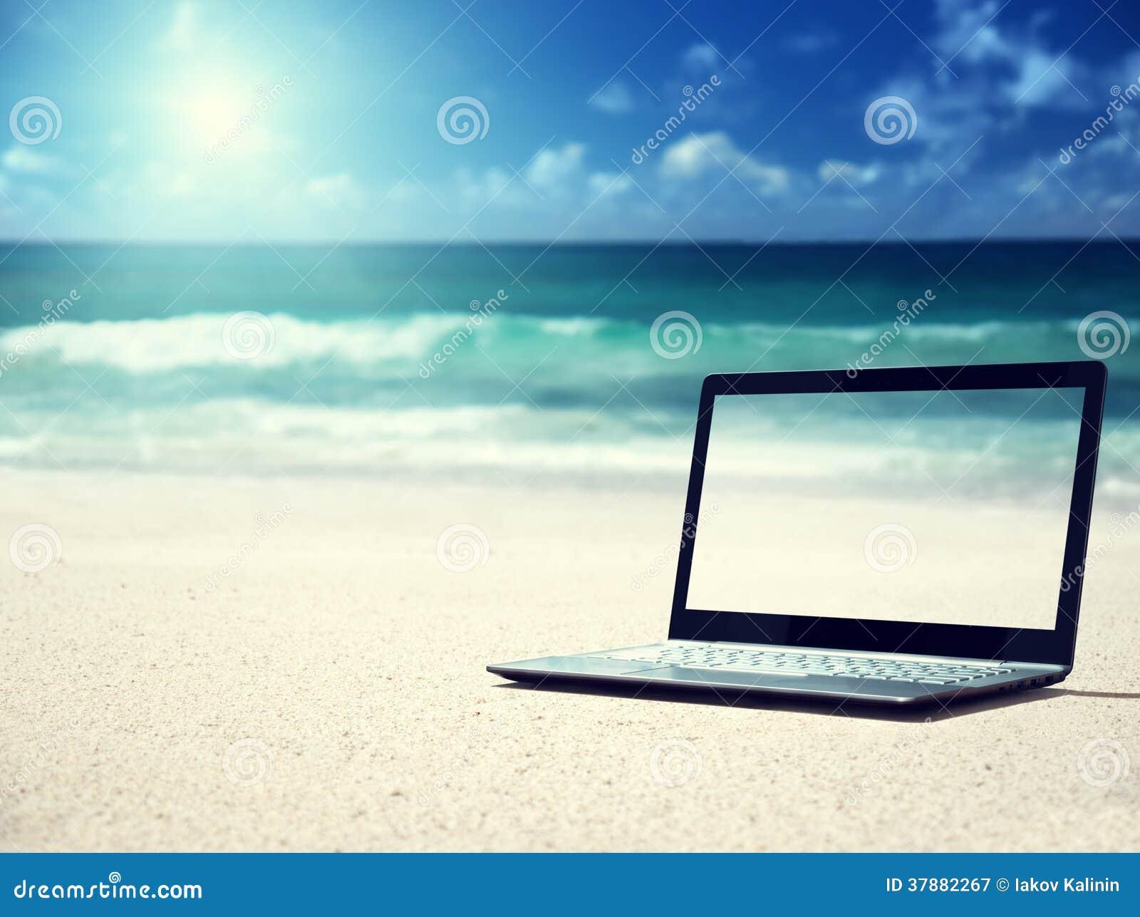 Notitieboekje op het strand