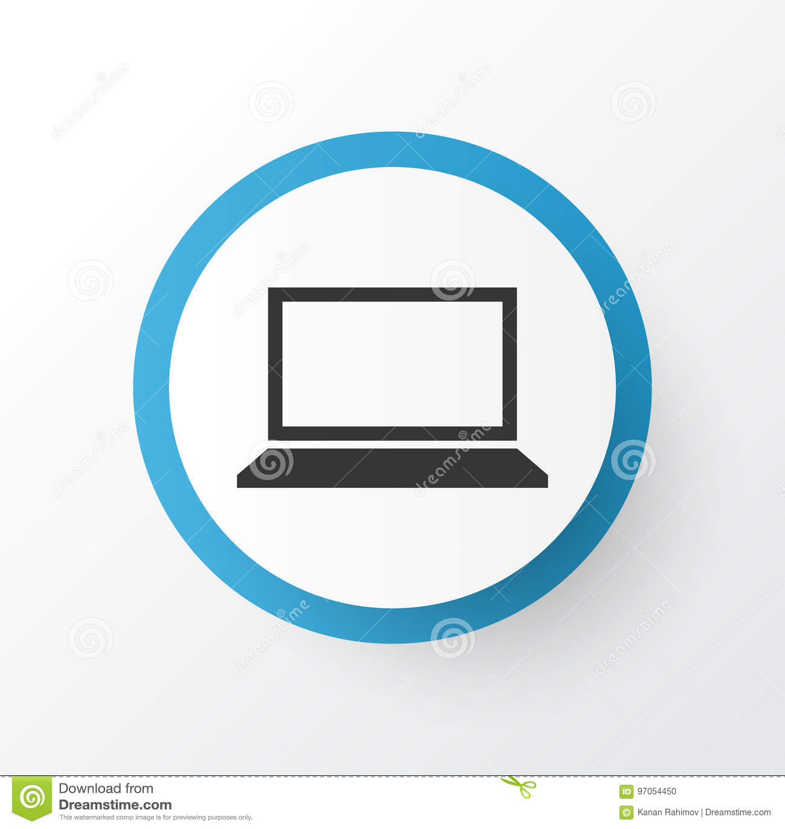 Notizbuch-Ikonen-Symbol Erstklassige Qualität Lokalisiertes Laptop ...