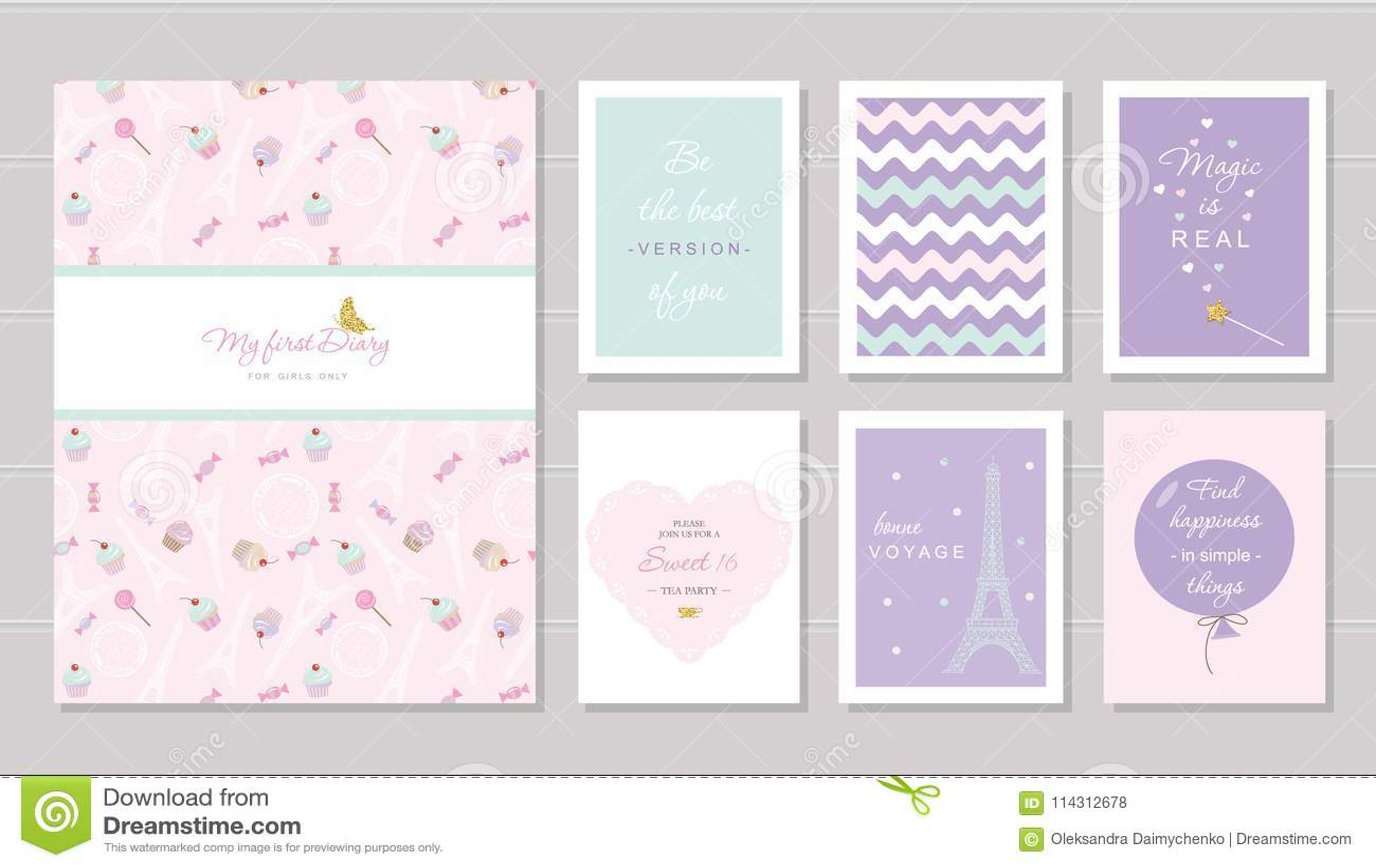 Bezaubernd Kluge Zitate Dekoration Von Notizbuchabdeckung Und Kartendesign Für Jugendlichen Paris-thema, Enthaltenes