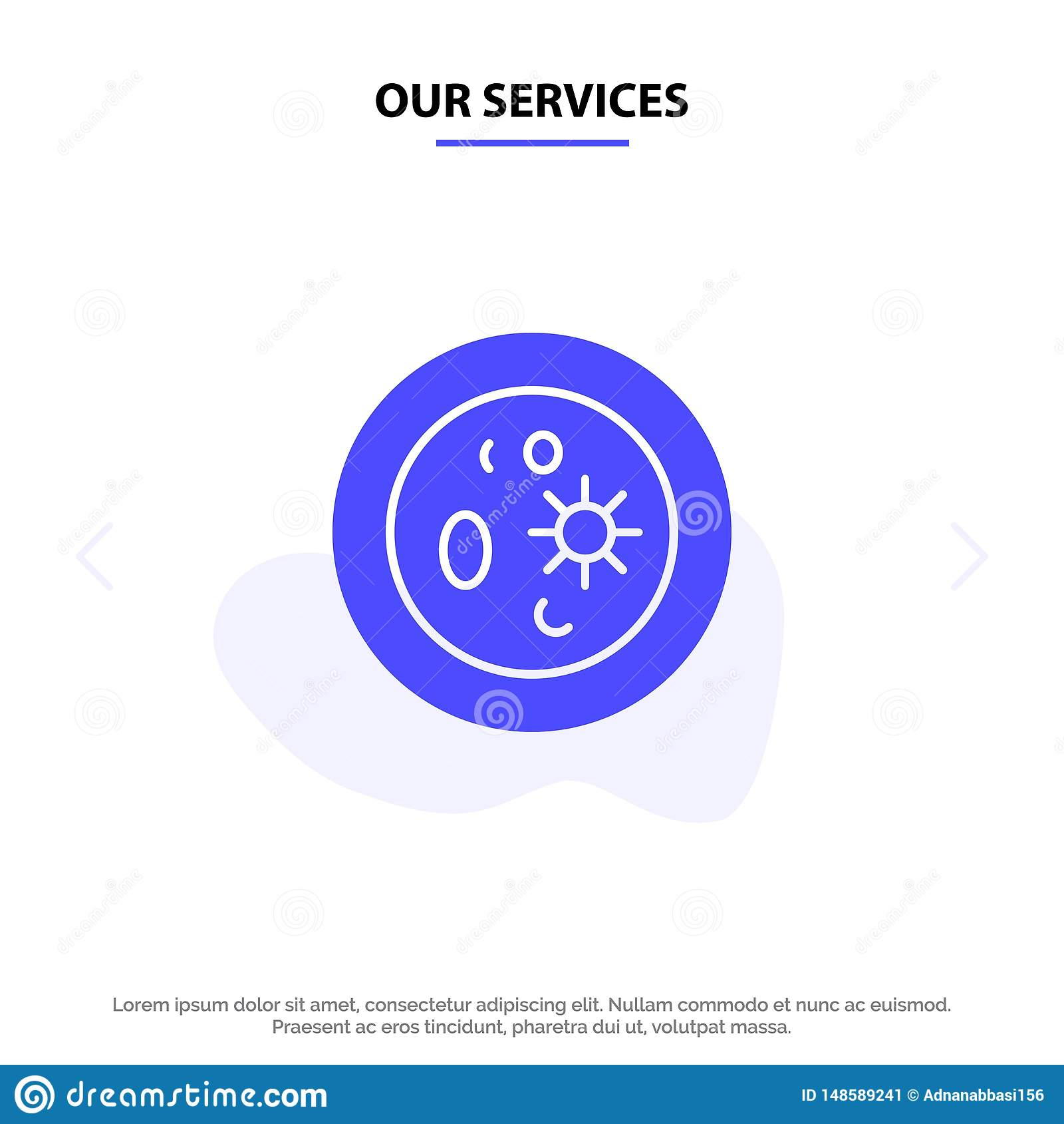 Notre biochimie de services, biologie, chimie, plat, calibre solide de carte de Web d icône de Glyph de laboratoire
