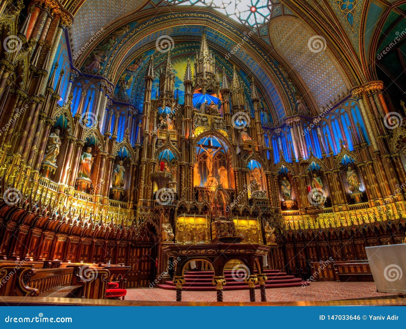 Notre Dame Basilica, int?rieur, Montr?al, QC, Canada