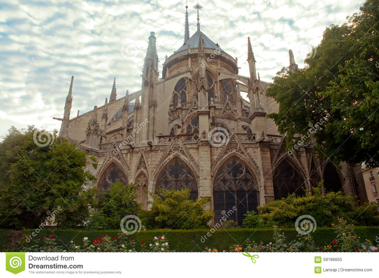 notre dame cathedral architectural details paris stock image image of boats european. Black Bedroom Furniture Sets. Home Design Ideas
