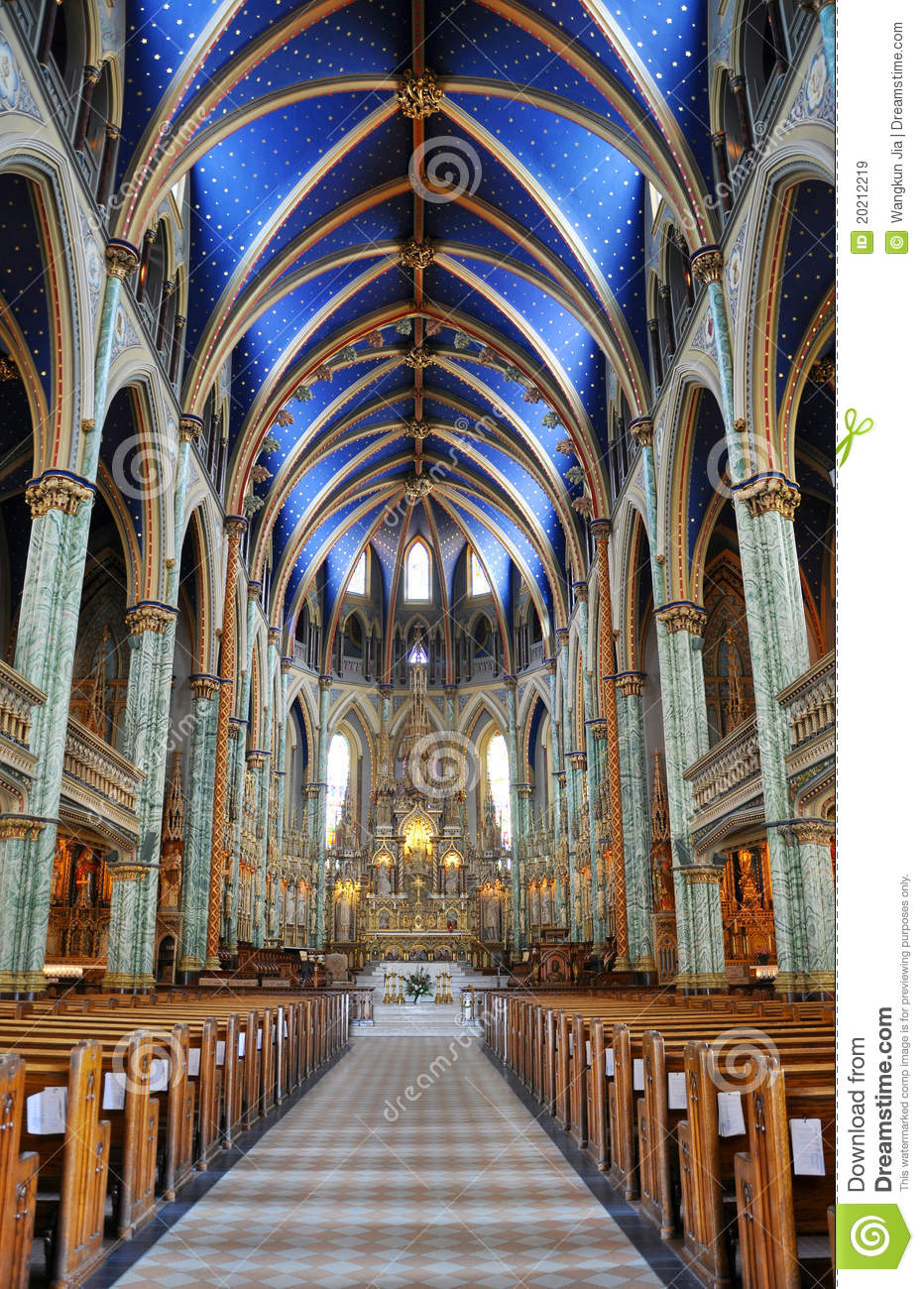 Notre Dame Cathedral Basilica Ottawa Royalty Free Stock