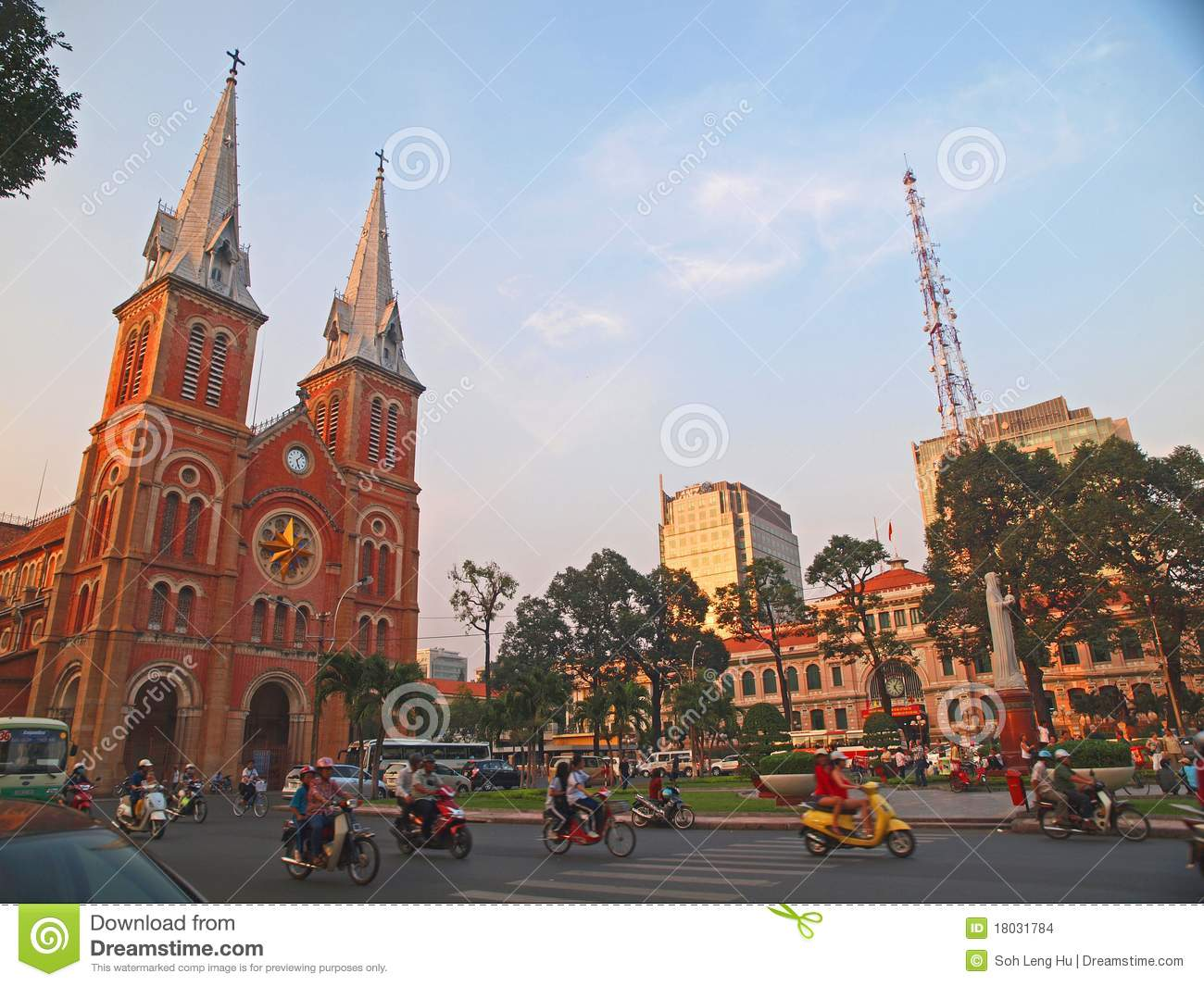 Download Notre Dame Cathedral, Ho Chi Minh City, Vietnam. Editorial Stock Image - Image of busy, colony: 18031784
