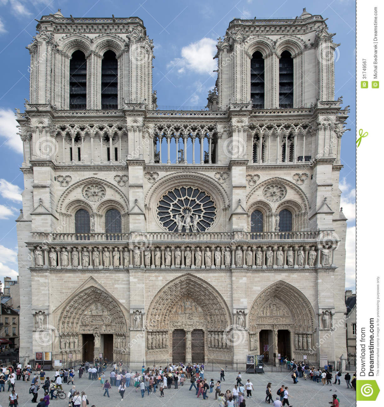 Notre Dame Cathedral, Paris, France. Editorial Photography - Image ...