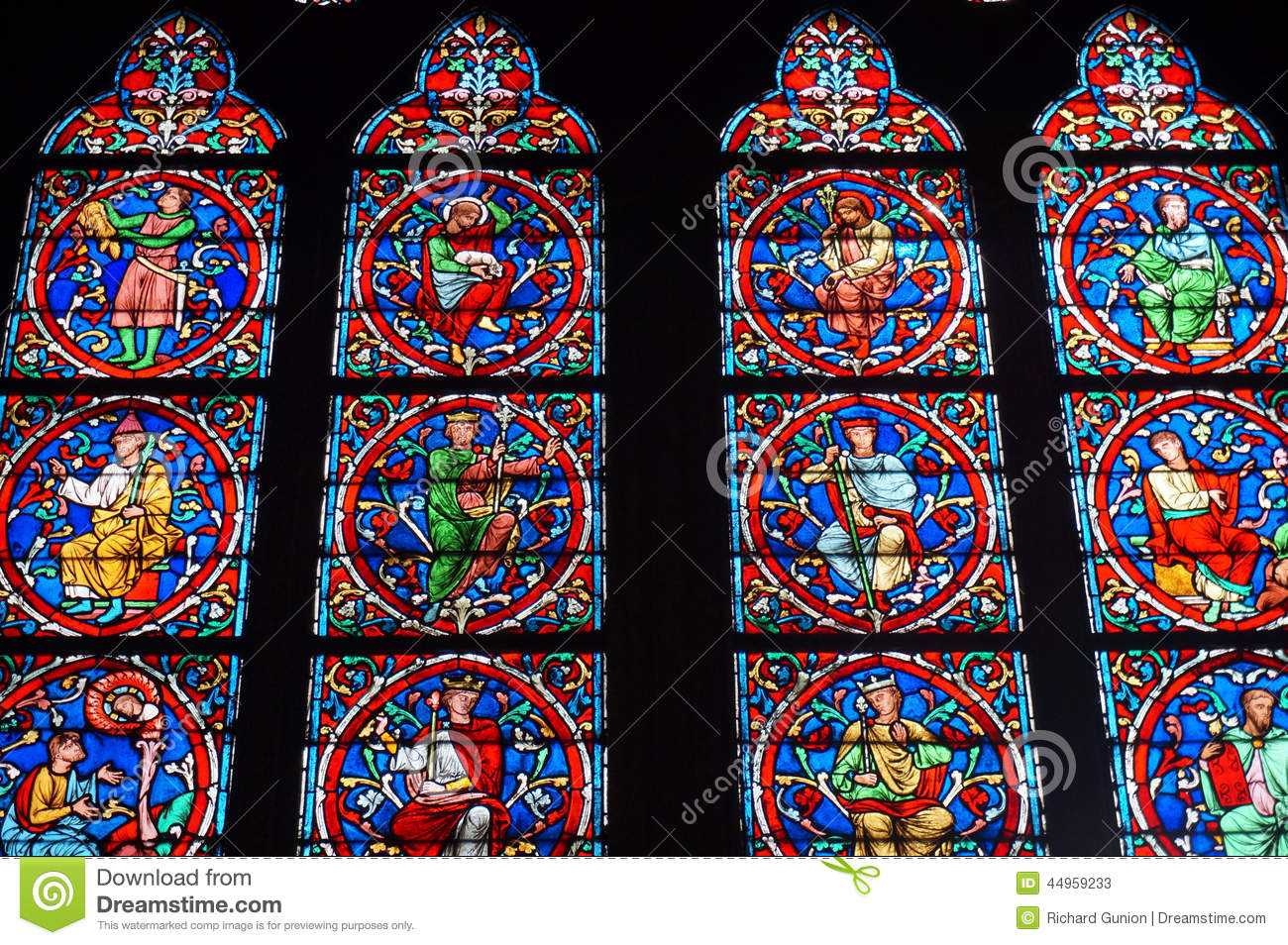 Notre Dame Cathedral Stained Glass Window