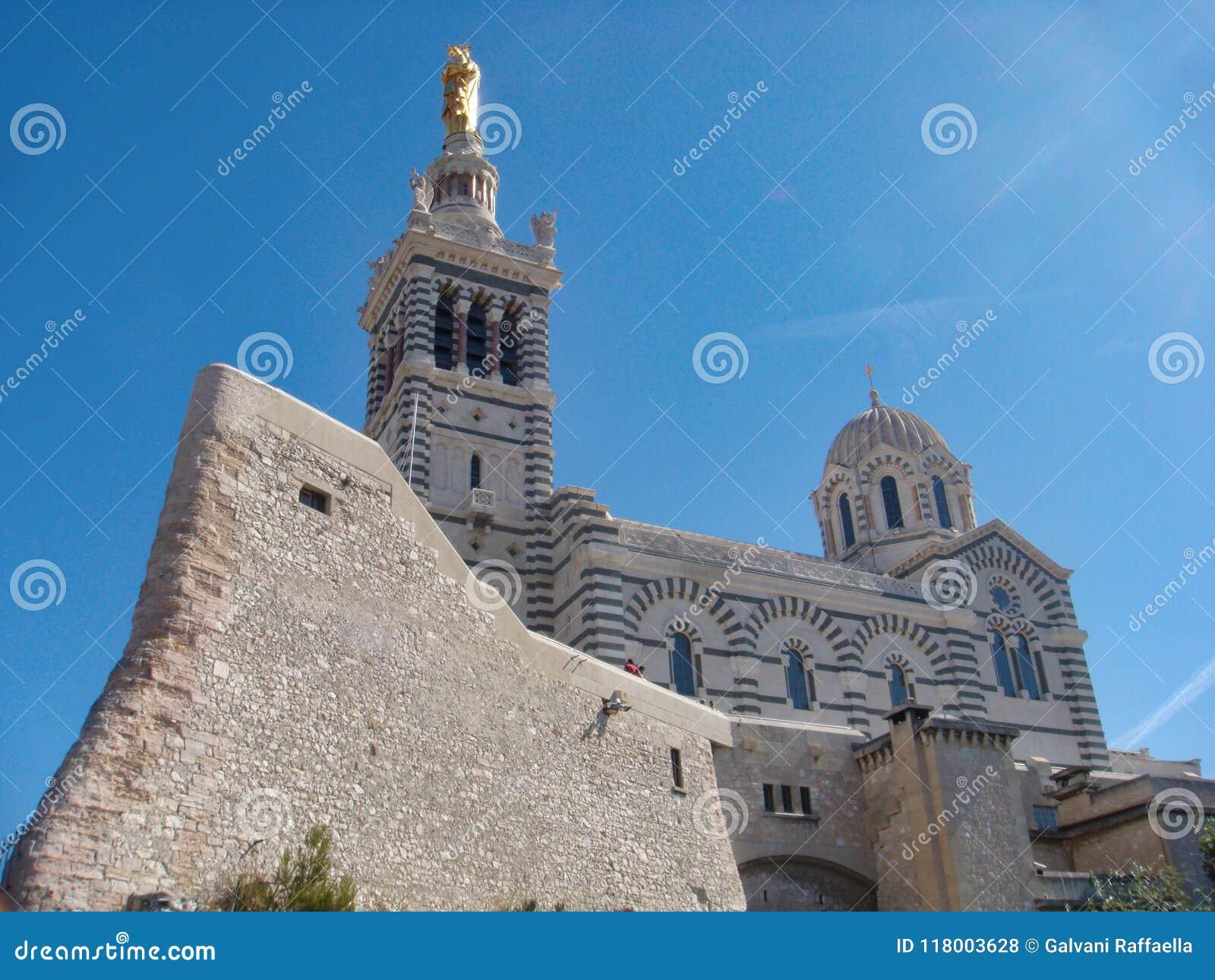 Notre Dame de la Guarde katholisches basilic in Marseille, Frankreich
