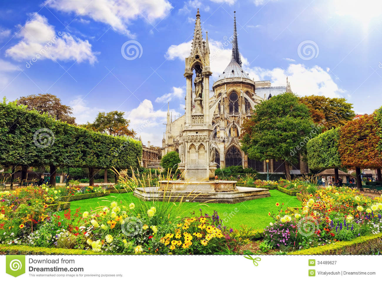 Notre Dame De Paris Cathedral Royalty Free Stock
