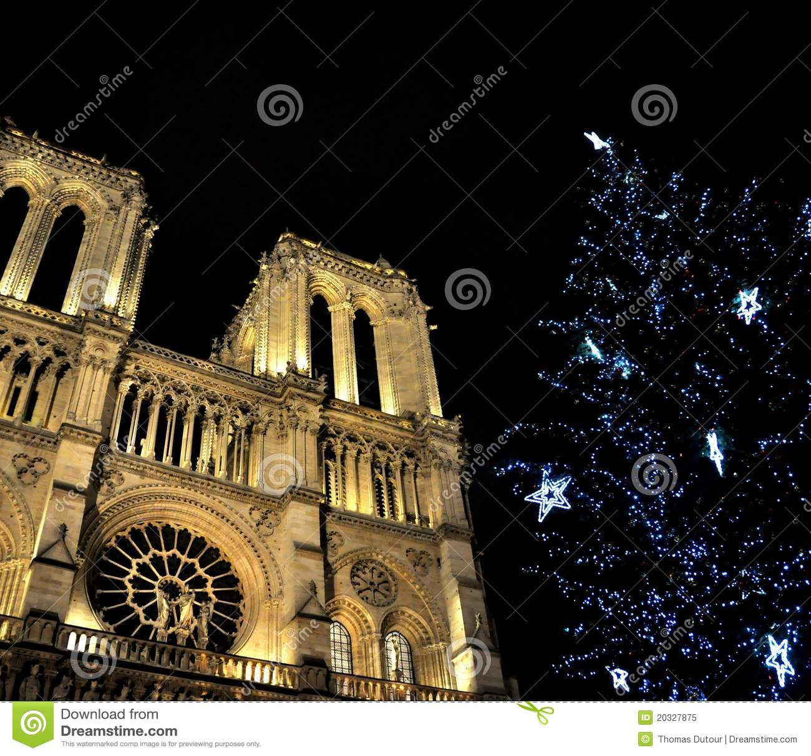 Notre-Dame De Paris At Christmas Stock Image - Image of catholicism ...