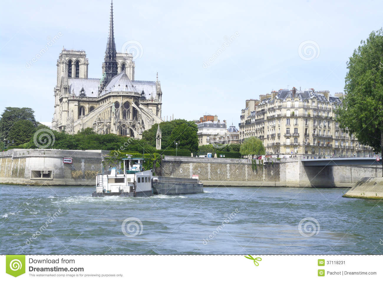 Notre Dame Of Paris Island Of The City And St Louis Island