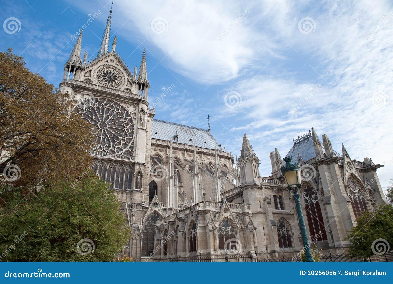 Notre paris för landmark för domkyrkadame gotisk