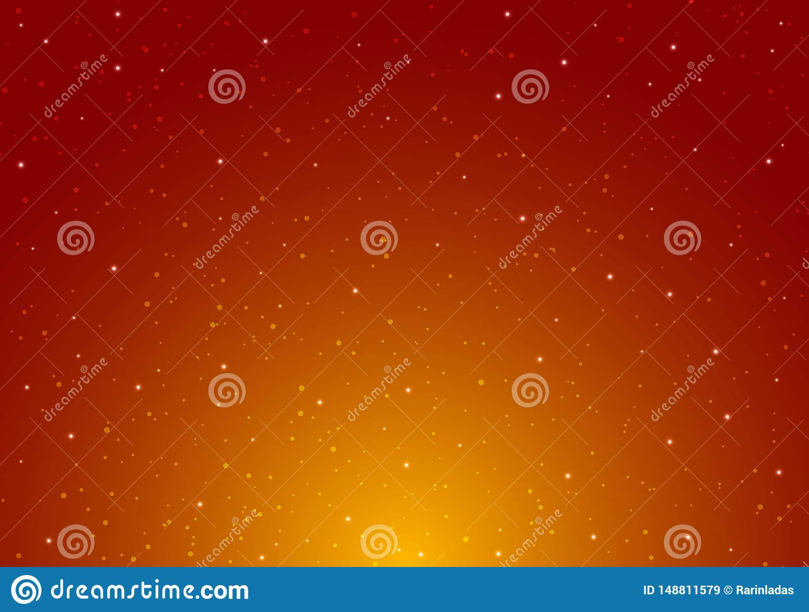 Notte che splende cielo notturno stellato con l infinito dello spazio dell universo delle stelle e luce stellare sul fondo rosso