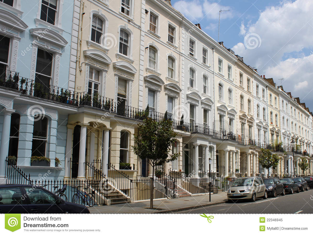 Notting hill houses royalty free stock photo image 22346945 for House notting hill