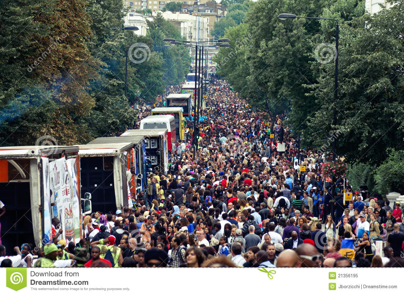 Notting Hill Ladbroke Grove notting hill s carnival in west london, uk editorial image