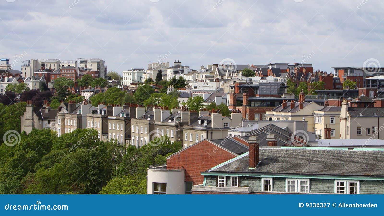 Nottingham-Himmelzeile England Großbritannien