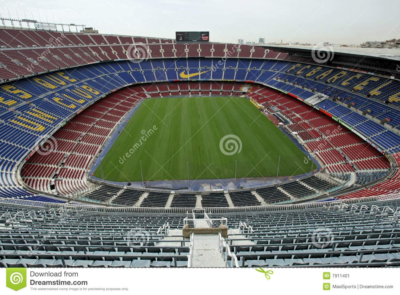 nou camp stadium editorial photo  image of empty  fans