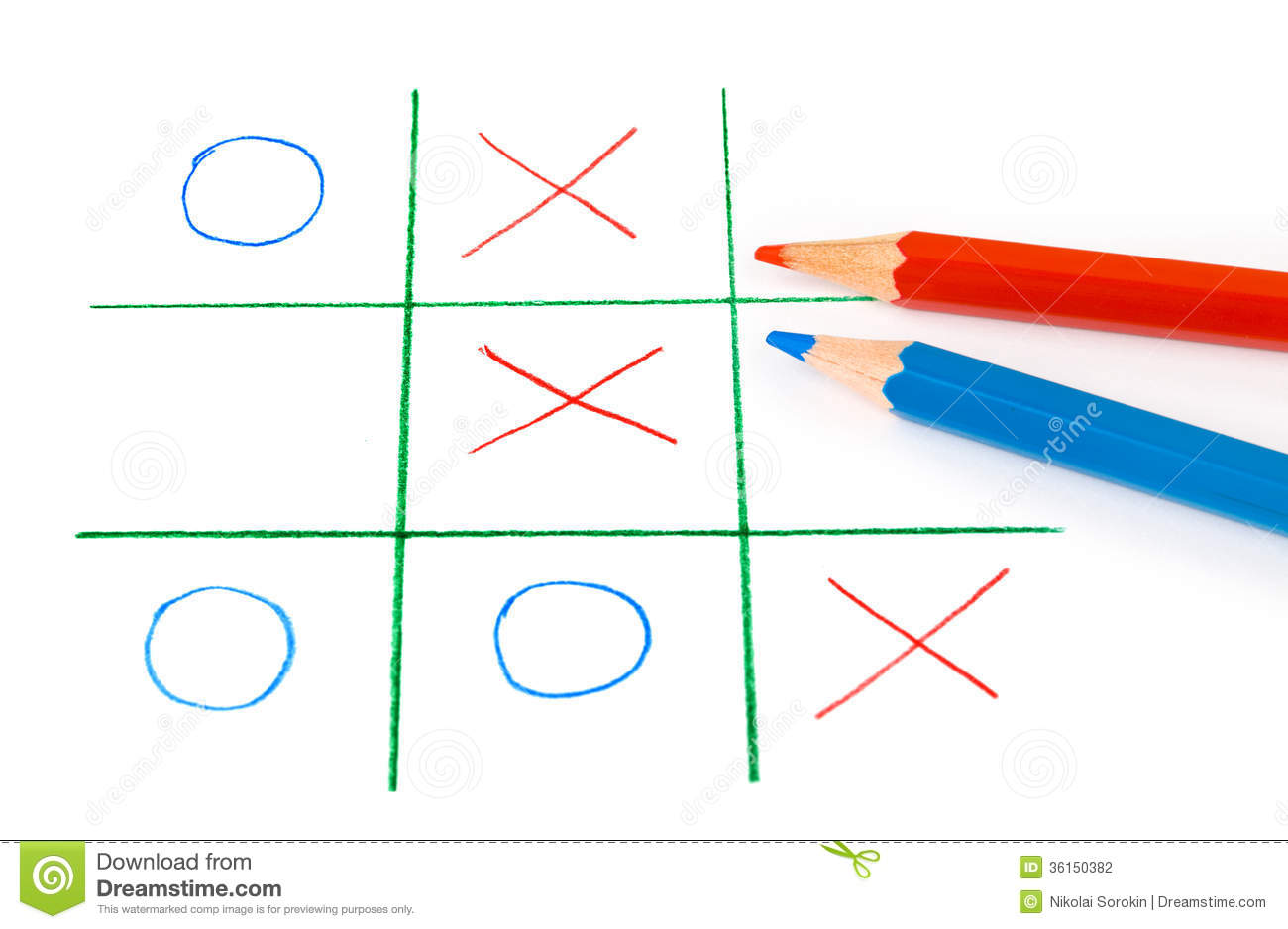 Noughts And Crosses Game Stock Photography - Image: 36150382