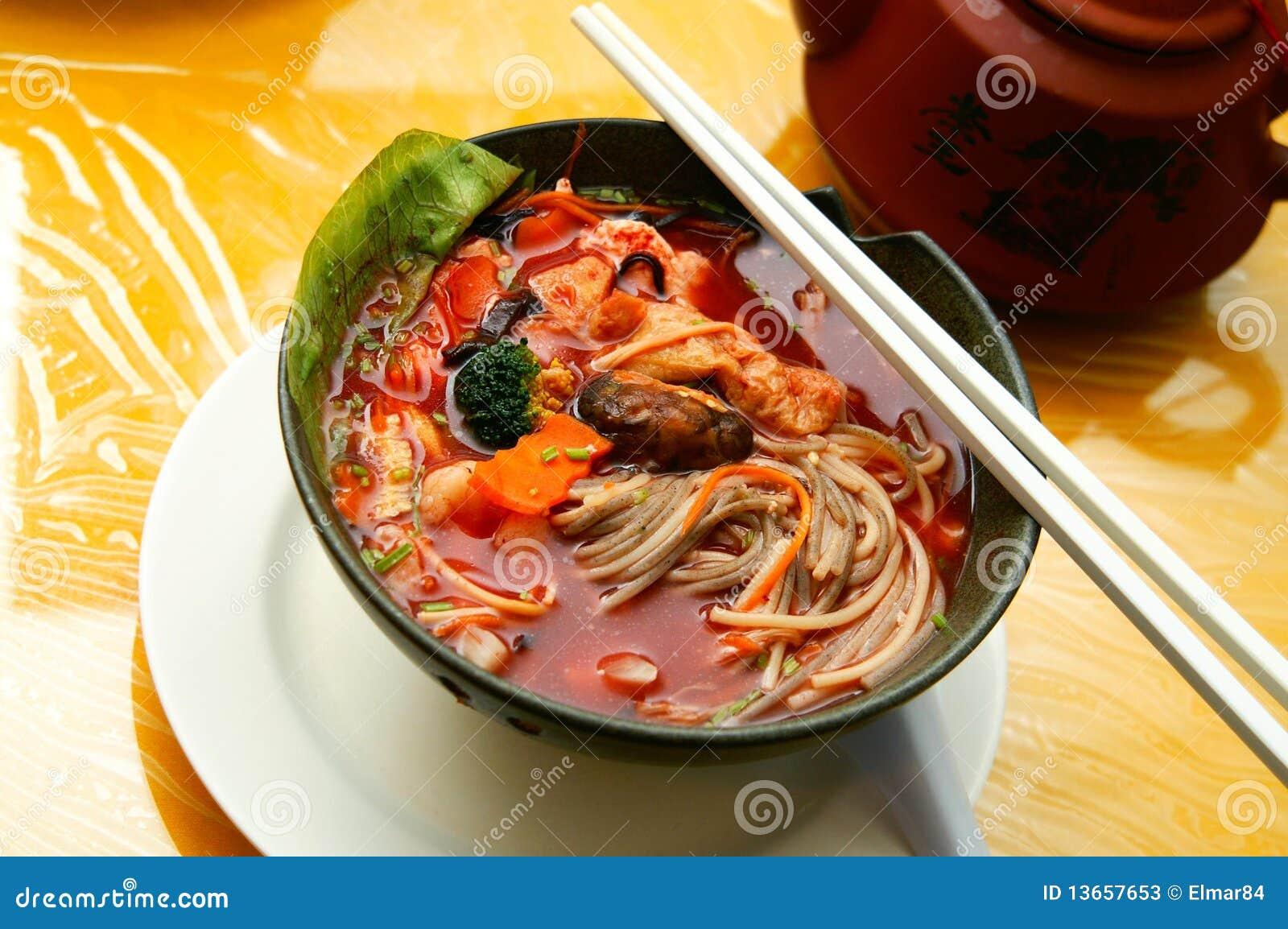 Nouille chinoise végétarienne