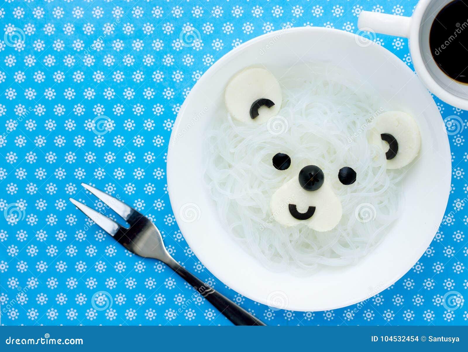 Nouilles de riz de blanc d ours blanc