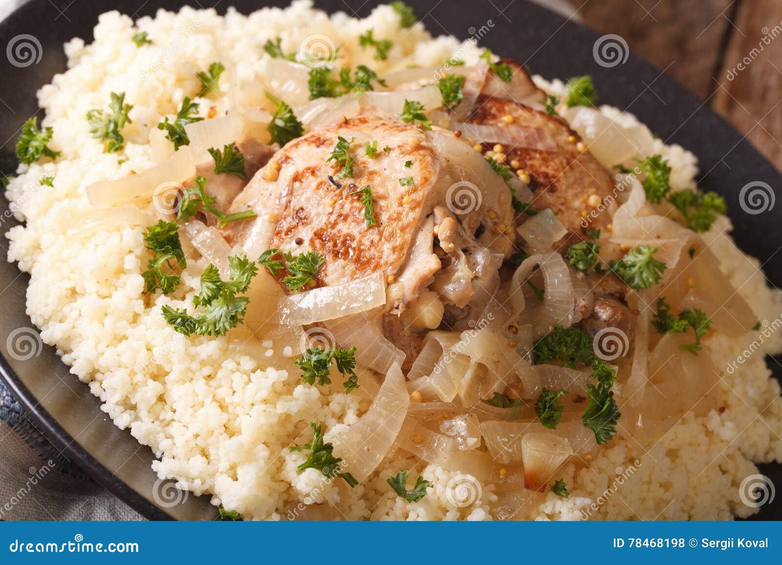 Nourriture Africaine Traditionnelle Poulet Yassa A L Oignon Et Au